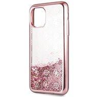Guess 4G Peony Glitter pro iPhone 11 Pro Rose (EU Blister) - Kryt na mobil