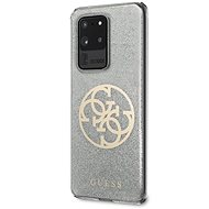 Guess 4G Glitter Circle Kryt pro Samsung Galaxy S20 Ultra Grey - Kryt na mobil