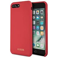 Guess Silicone Logo TPU Case Red pro iPhone 7/8 Plus - Kryt na mobil