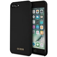 Guess Silicone Logo TPU Case Black pro iPhone 7/8 Plus - Kryt na mobil