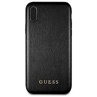 Guess PU Leather Hard Case Iridescent Black pro iPhone XS Max - Kryt na mobil