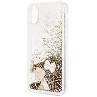 Guess Glitter Hearts Gold pro Samsung G975 Galaxy S10 Plus - Kryt na mobil