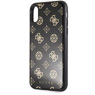 Guess Layer Glitter Peony pro iPhone X/XS Black - Kryt na mobil