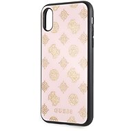 Guess Layer Glitter Peony pro iPhone X/XS Light Pink - Kryt na mobil