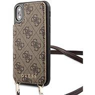 Guess 4G Crossbody Cardslot pouzdro pro iPhone X/XS Brown - Kryt na mobil