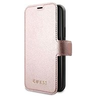 Guess Iridescent for Apple iPhone 12 Mini, Pink - Mobile Phone Case