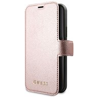 Guess Iridescent Book for iPhone 11 Black/Rose (EU Blister) - Mobile Phone Case