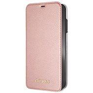 Guess PU Leather Book Case Iridescent Rose Gold pro iPhone XS Max - Pouzdro na mobilní telefon