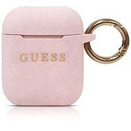 Guess Silikonový Kryt pro Airpods Pink  - Pouzdro