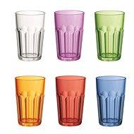Guzzini Sada plastových vysokých pohárů 6ks mix barev - Sada sklenic
