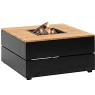 Stůl s plynovým ohništěm COSI-  Cosipure 100 černý rám / deska Dřevěná - Zahradní stůl