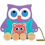 Hamleys Tahací sovička - Dřevěná hračka