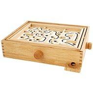 Hamleys Dřevěný labyrint s kuličkou - Stolní hra