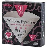 Hario papírové filtry V60 – 01 40ks - Filtr na kávu