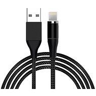 Hishell 4in1 Magnetic Data & Charging Cable (2x USB-C + Lightning + Micro USB) černý - Datový kabel