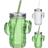 H&L Cactus Glass Mug with Straw Set - Baby cup