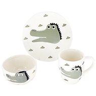 H&L  Animals - Krokodýl   - Dětská jídelní sada
