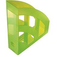 HELIT Economy 75mm průsvitný zelený - Stojan na časopisy