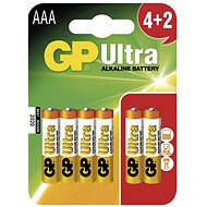 GP Ultra Alkaline LR03 (AAA) 4+2 pcs in blister pack - Disposable batteries