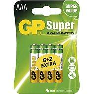 Jednorázová baterie GP Super Alkaline LR03 (AAA) 6+2ks v blistru