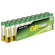 GP Super Alkaline LR6 (AA) 20pcs blister pack - Disposable batteries