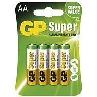 GP Super Alkaline LR6 (AA) 4ks v blistru - Jednorázová baterie
