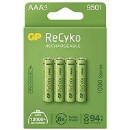 GP ReCyko 1000 AAA (HR03), 4 ks - Nabíjecí baterie