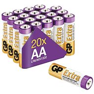 Jednorázová baterie GP Alkalická baterie GP Extra AA (LR6), 20 ks - Jednorázová baterie