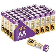 Jednorázová baterie GP Alkalická baterie GP Extra AA (LR6), 40 ks - Jednorázová baterie