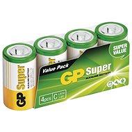 GP Alkalická baterie GP Super C (LR14), 4 ks - Jednorázová baterie