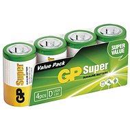 GP Alkalická baterie GP Super D (LR20), 4 ks - Jednorázová baterie