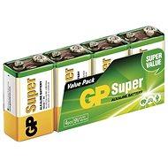 GP Alkalická baterie GP Super 9V (6LF22), 4 ks - Jednorázová baterie