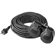 Prodlužovací kabel EMOS Prodlužovací kabel gumový 15m černý - Prodlužovací kabel