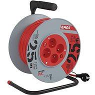 EMOS PVC kabel na bubnu s vypínačem – 4 zásuvky, 25m, 1,5mm2 - Prodlužovací kabel