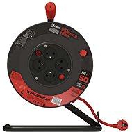 EMOS PVC prodl. kabel na bubnu s vypínačem – 4 zásuvky, 50m, 1,5mm2 - Prodlužovací kabel