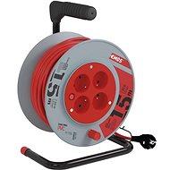 EMOS PVC prodlužovací kabel na bubnu – 4 zásuvky, 15m, 1mm2 - Prodlužovací kabel