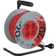 Prodlužovací kabel EMOS PVC prodlužovací kabel na bubnu – 4 zásuvky, 20m, 1mm2