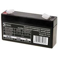 EMOS Bezúdržbový olověný akumulátor 6 V/1,3 Ah, faston 4,7 mm - Nabíjecí baterie