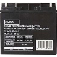 EMOS Bezúdržbový olověný akumulátor 12 V/18 Ah - Nabíjecí baterie