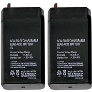 EMOS Bezúdržbový olověný akumulátor 4 V/0,7 AH 2 ks - Nabíjecí baterie