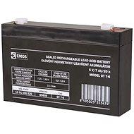 EMOS Bezúdržbový olověný akumulátor 6 V/7 Ah, faston 4,7 mm - Nabíjecí baterie