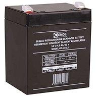 EMOS Bezúdržbový olověný akumulátor 12 V/4,5 Ah, faston 4,7 mm - Nabíjecí baterie