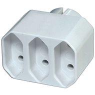 EMOS Rozbočovací zásuvka 3× plochá, bílá - Zásuvka