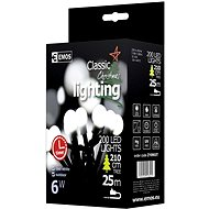 EMOS LED vánoční cherry řetěz – kuličky, 20m, studená bílá, časovač - Vánoční osvětlení