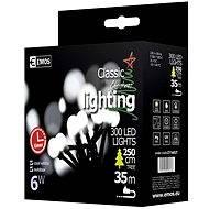 EMOS LED vánoční cherry řetěz – kuličky, 30m, studená bílá, časovač - Vánoční řetěz