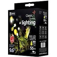 EMOS LED vánoční řetěz, 50m, studená bílá, časovač - Vánoční osvětlení