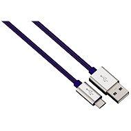 Hama Color Line USB A - USB micro B, 1m, modrý - Datový kabel