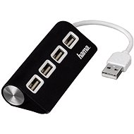 Hama USB 2.0 1:4 port černý - USB Hub