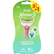 WILKINSON Xtreme3 Beauty Sensitive 3 + 1 ks - Dámská holítka