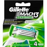 GILLETTE Mach3 Sensitive 4 ks - Pánské náhradní hlavice